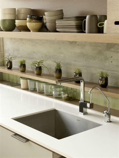 Concrete Countertop Backsplash Concrete Backsplash Ideas For Kitchens Homesfeed