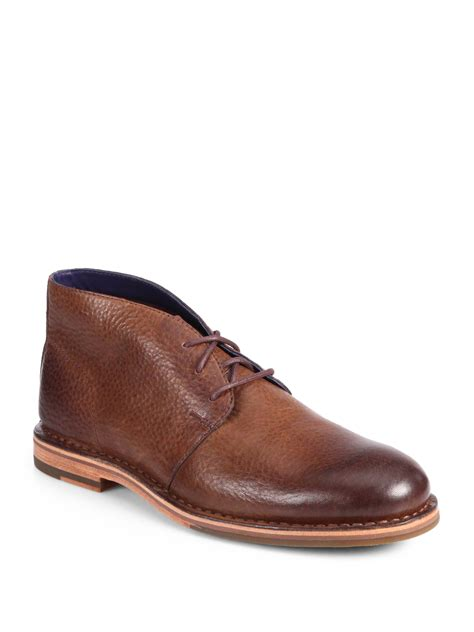 cole haan s boots cole haan glenn laceup chukka boots in brown for lyst