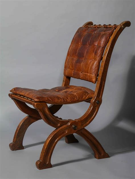 Banquet Style Chairs by A Pair Of Oak Folding Chairs In The Style Of A W N