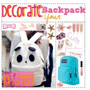 how to decorate a backpack decorate your backpack polyvore