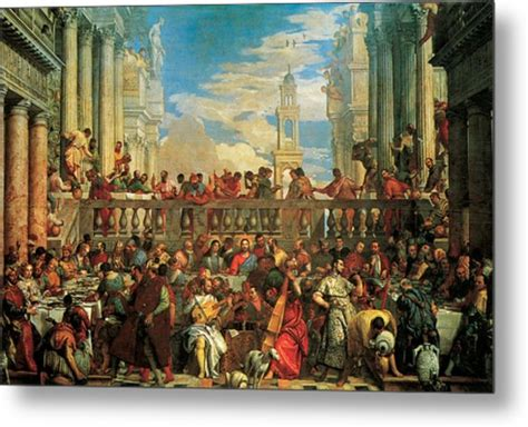 Wedding At Cana Pdf by The Wedding Feast At Cana Painting By Veronese