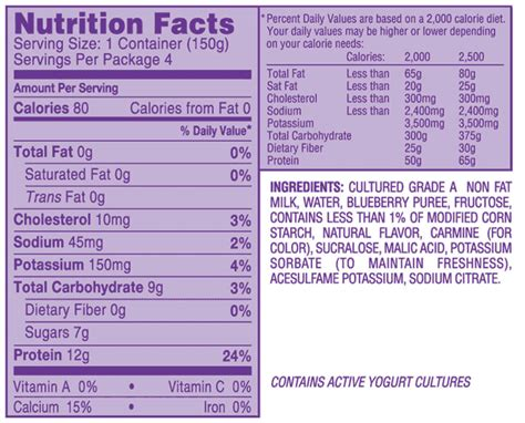 light and fit yogurt nutrition dannon light and fit nutritional information nutrition