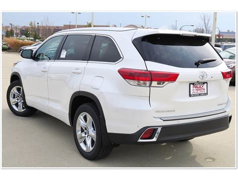 toyota highlander 2017 white new 2017 toyota highlander limited 4d sport utility in