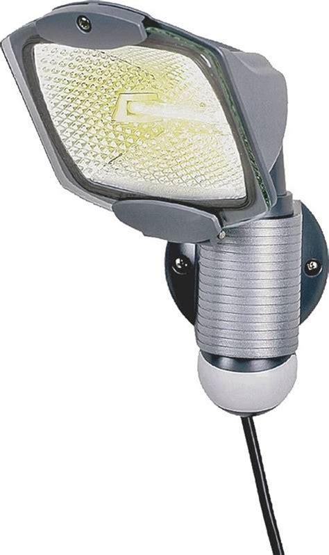 halogen motion sensor light cooper ms100pg portable motion sensor floodlight t3
