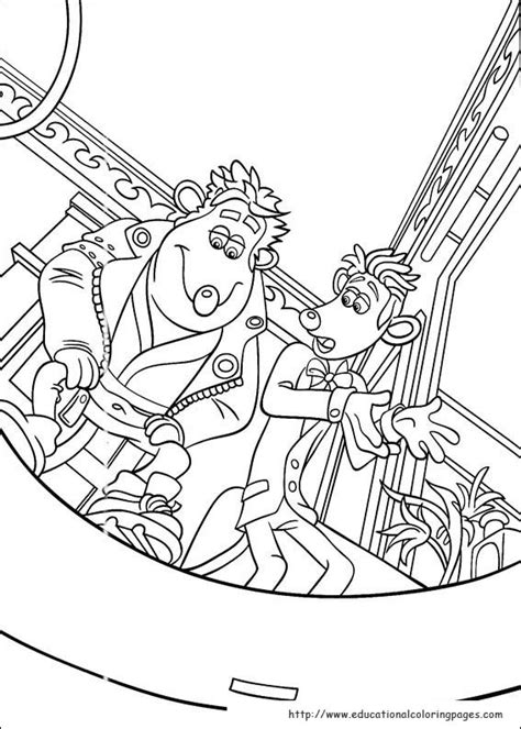 flushed away coloring pages educational fun kids