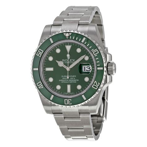 rolex submariner green steel s 116610lv