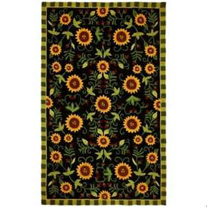 Sunflower Area Rug 5 X 7 Sunflower Garden Hooked Area Throw Rug Walmart