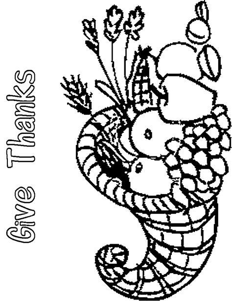 empty cornucopia coloring pages printables sketch coloring