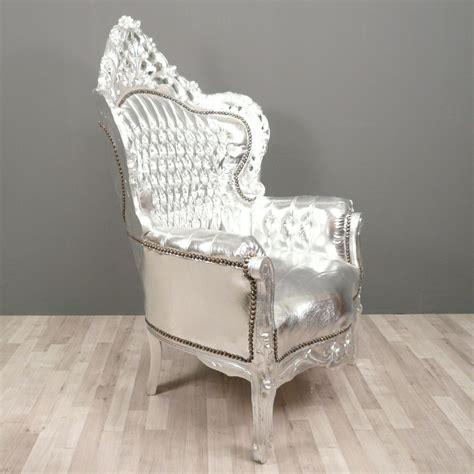 Barock Sessel by Baroque Armchair Silver Baroque