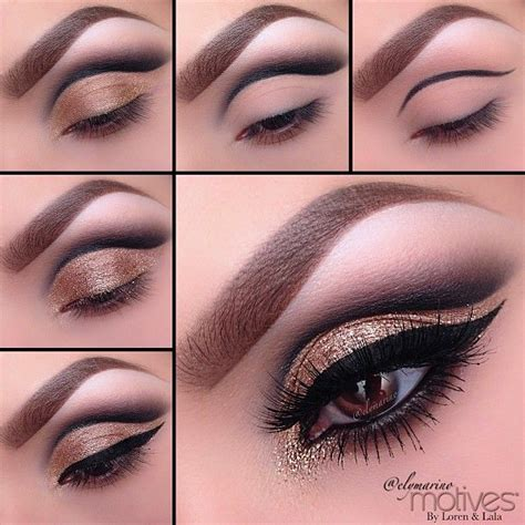 eyeshadow tutorial with gold pinterest discover and save creative ideas