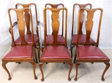 queen anne armchair uk set of six queen anne style walnut highback dining chairs 155050 sellingantiques co uk