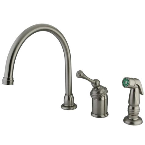 kingston brass kitchen faucets kingston brass kb3818blsp buckingham kitchen faucet with
