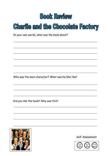 charlie chocolate factory book review  kayld teaching resources tes