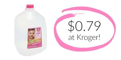 Nursery Water With Or Without Fluoride by Kroger Nursery Water Only 0 79 Rare Coupon Become
