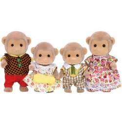 sylvanian families monkey family set 163 16 00 hamleys