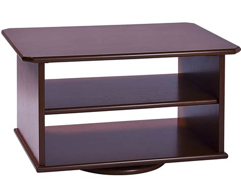 swivel top tv stand media cabinet furniture rectangle black stained flat screen tv