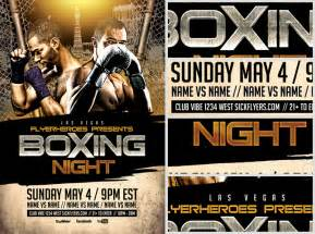 Boxing Poster Template Free by Boxing Flyer Template 2 Flyerheroes