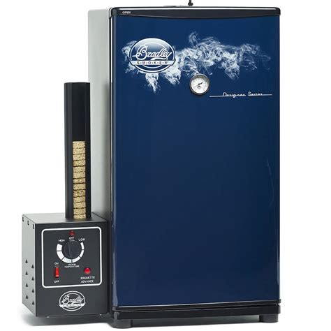 Breadley Original 1 bradley designer series blue 4 rack original smoker bs611b