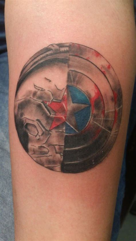 the winter soldier shield arm search tattoos