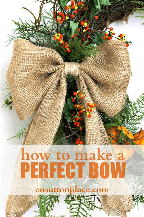 how to make a bow on sutton place