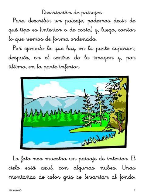 descripcion de imagenes en ingles ejemplos la descripci 243 n de paisajes