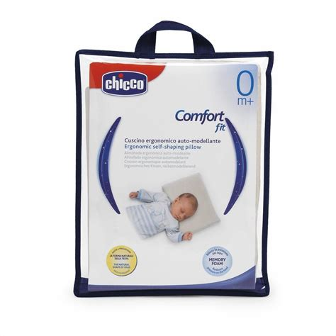 cuscino primi mesi chicco ergonomic self shaping pillow sleeptime and relaxation