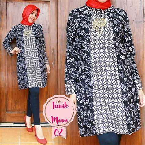 Mono Tunik tunik batik elegan dan stylish buat kerja dan kuliah