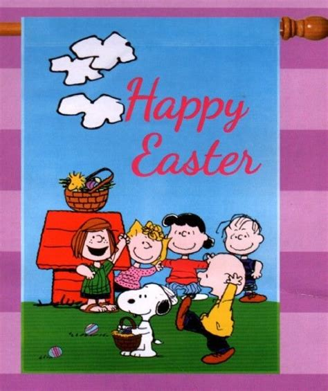 charlie brown gang outdoor garden flag snoopy peanuts happy easter egg hunt large house outdoor new ebay