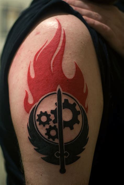 brotherhood of steel tattoo that make you ink gaminglives
