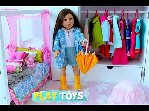 Play Doll Closet by Baby Doll House Play Dolls Closet Wardrobe Dress Up American Doll Dollhouse Furniture