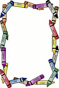 free printable crayon border free page borders spyfind