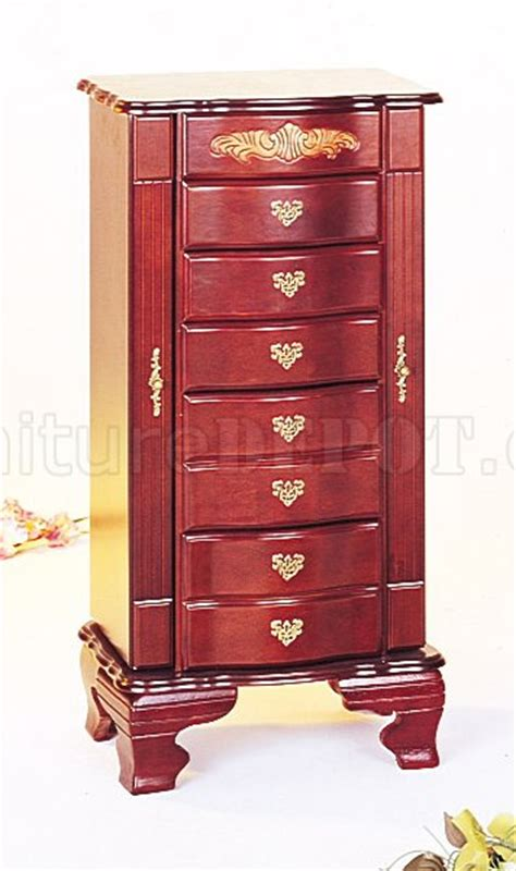 mahogany jewelry armoire mahogany finish elegant deluxe jewelry armoire