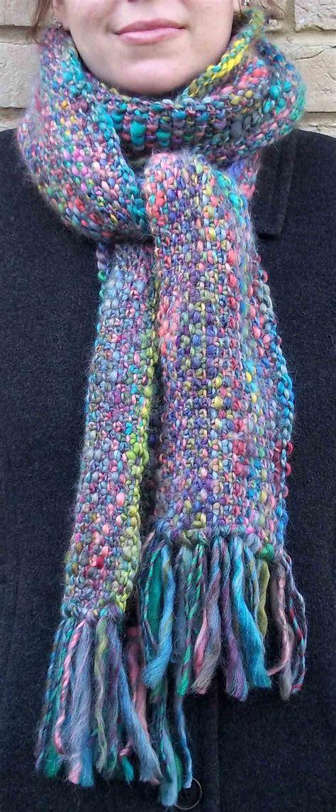knit scarf linen stitch scarf pattern kniftybits s