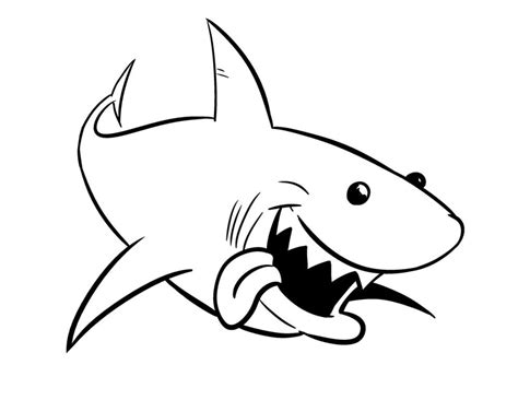 shark coloring pages bestofcoloring com