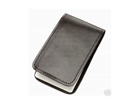 Memo Spiral Cover security guard leather memo book spiral notepad pad holder sleeve ebay