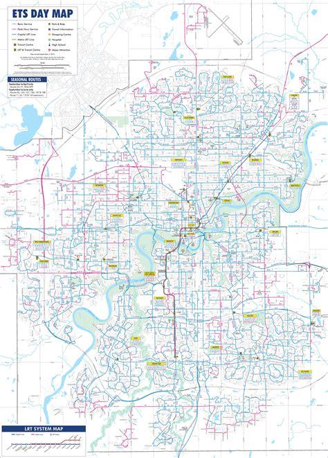 printable edmonton area map edmonton transport map