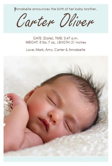 Baby Boy Birth Announcement Template 187 Template Haven Baby Boy Birth Announcement Template