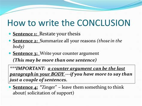 how to write a conclusion to a paper objective i will learn the process of writing a