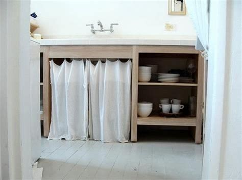 Kitchen Cabinet Curtains by Kitchen Curtain Covered Cabinet Roundup By