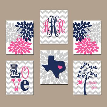 Pink And Navy Nursery Decor Best Navy And Pink Nursery Decor Products On Wanelo