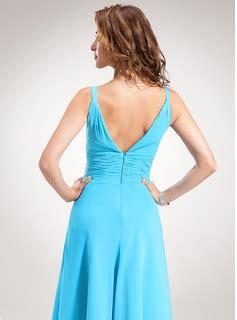 Dress Sauqina Dusty Pink 0112 Qkj a line princess v neck tea length chiffon bridesmaid dress with ruffle 007001896 bridesmaid
