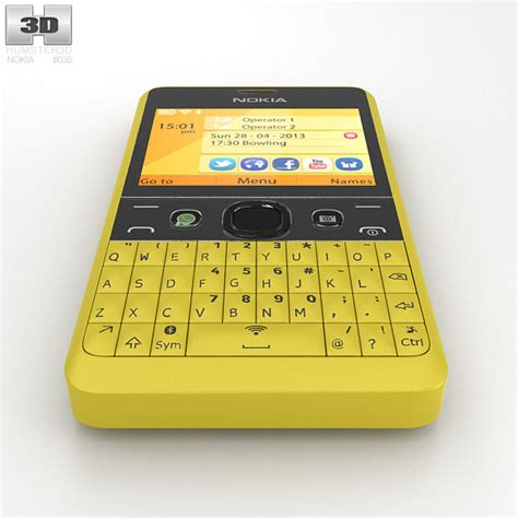 car theme nokia asha 210 nokia asha 210 yellow 3d model hum3d
