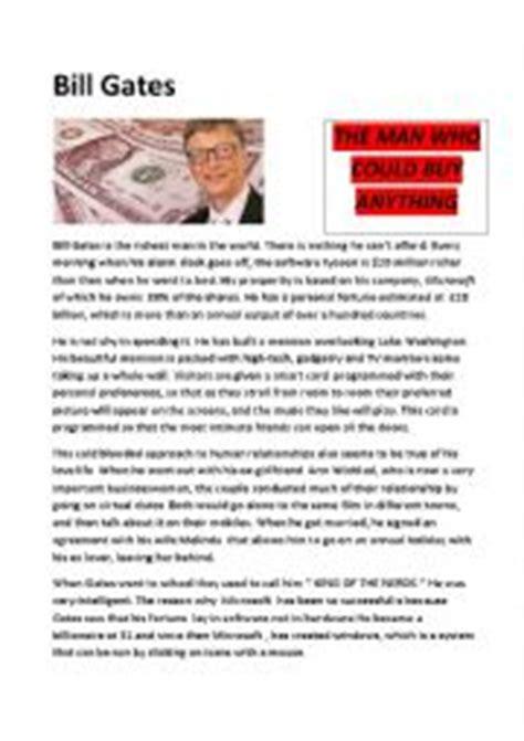 bill gates printable biography english worksheets bill gates