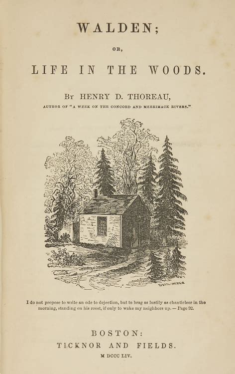 book walden or in the woods henry david thoreau on