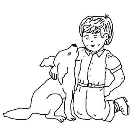 Coloriage Enfant Et Chien Le Blog De Ludovica
