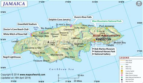 jamaica map with cities cities in jamaica errol flynn tours jamaica
