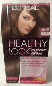 l oreal healthy look creme gloss hair color choose your color ebay loreal healthy look creme gloss hair color light beige brown iced praline 6bb