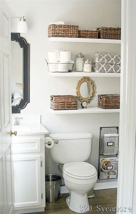 Shelves In The Bathroom 11 Fantastic Small Bathroom Organizing Ideas Toilets Bathroom Ideas And White Floating Shelves