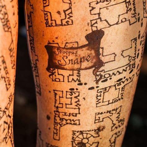 marauders map tattoo marauder s map dervish and banges
