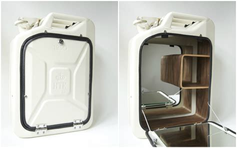 Jerry Can Bar Cabinet Jerry Cans Repurposed Into Trendy Bathroom Cabinets Living In A Shoebox